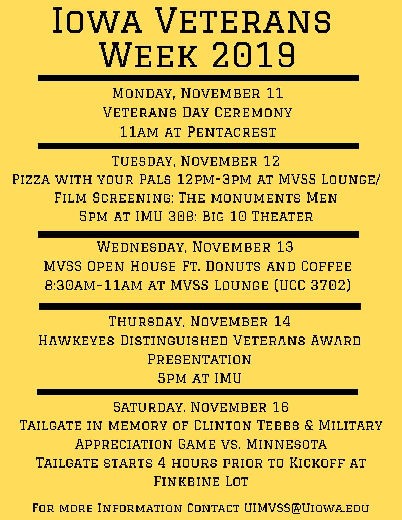 Veterans Week Flyer