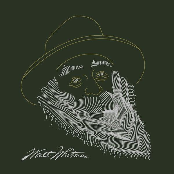 A vector image of Walt Whitman
