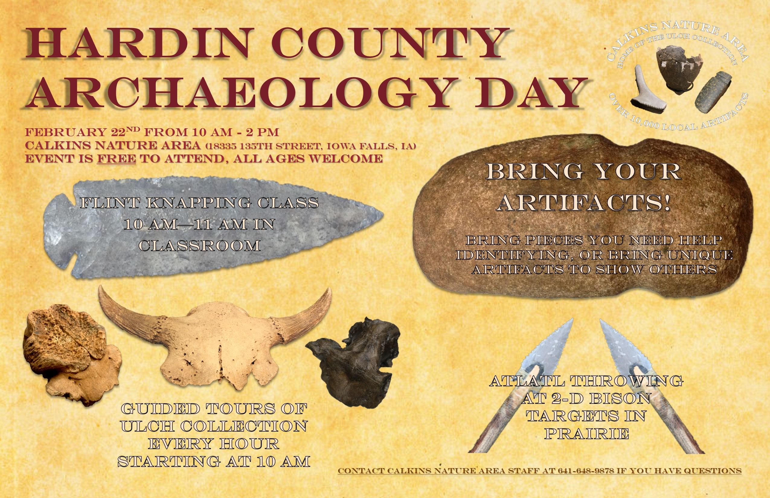 Calkins Nature Center Archaeology Day Poster
